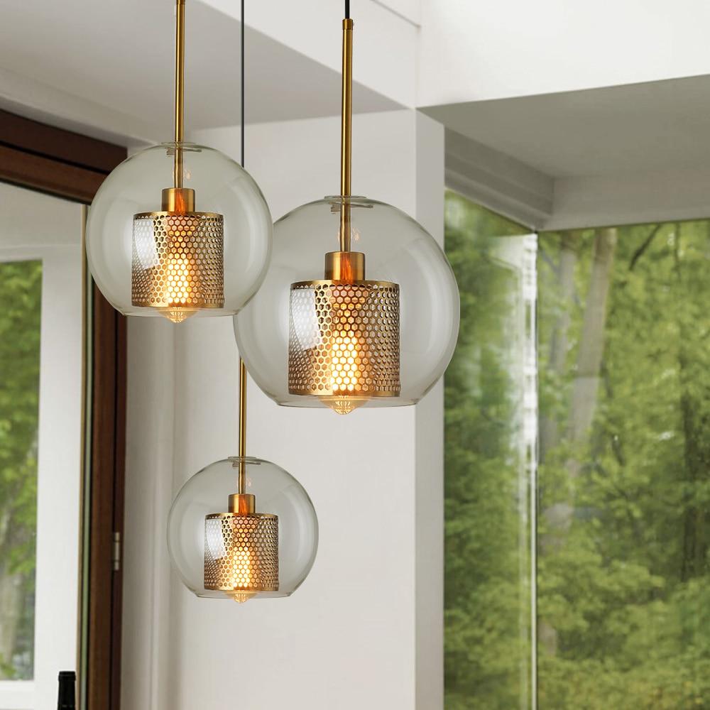 Modern Retro Glass Pendant Light  Restaurant  Pendant Lamp Hanging Cord Light  Creative Designer Personality Staircase Lamps