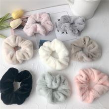 8 цветов плюшевая повязка для волос резинки эластичные Однотонный