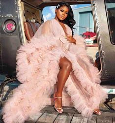 Hunter Pelz Dressing Kleid Dessous Nachthemd Schlafanzug Nachtwäsche V-ausschnitt Langarm Womens Luxus Dressing Kleider Housecoat