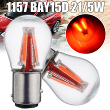 For Car Lighting 2pcs 12V 24V Red 4LED Stop Brake Light 1157 BAY15D 21/5W Reverse Backup Tail Signal Lamp Bulb Mayitr