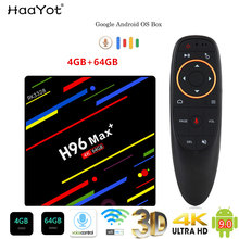 HAAYOT H96 MAX+ Tvbox Android 9.0 4G 64G Smartbox Set Top Box RK3328 TV Box Google Voice Control 2.4/5G Wifi 4K Media Player(China)