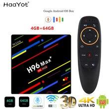 Haayot H96 Max + TVBox Android 9.0 4G 64G Smartbox Set Top Box RK3328 TV Box Google Voice điều Khiển 2.4/5G Wifi 4K Đa Phương Tiện
