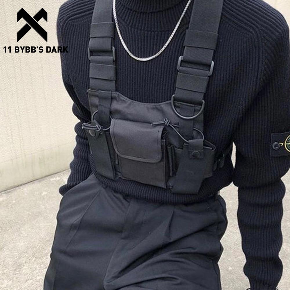 11 BYBB'S DARK Function Tactical Chest Bag  Hip Hop Streetwear Men Functional Waist Bags Adjustable Pockets Waist Shoulder Bag