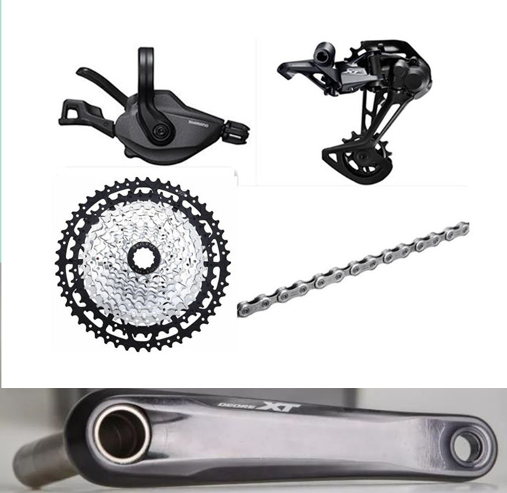DEORE <font><b>XT</b></font> <font><b>M8100</b></font> Groupset 12s MTB Bicycle Bike YBN Chain Skilful Cassette 11-50T image