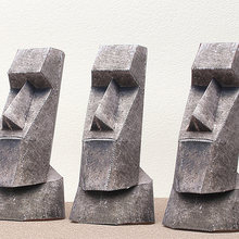 Moai Statues Easter Island 3Pcs Folding Cutting Mini 3D Paper Model Papercraft Architectural DIY Kids Adult Craft Toys QD-122(China)