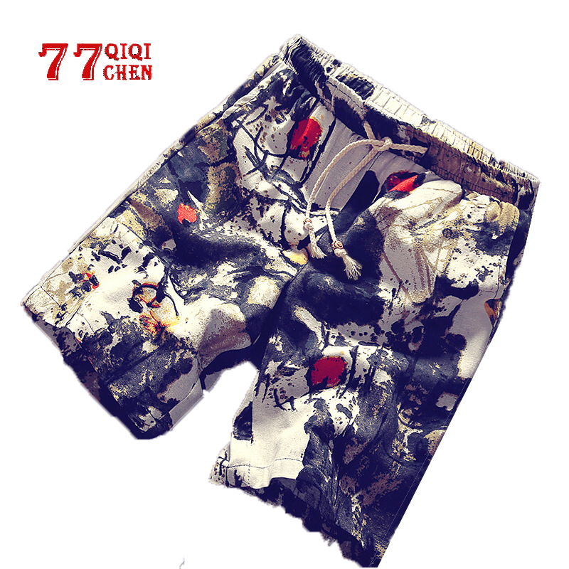 Summer Shorts Men Casual Beach Shorts Cotton Short Pants Men Plus Size 4XL Loose Motion Elastic Pants Bermuda Masculino HOT