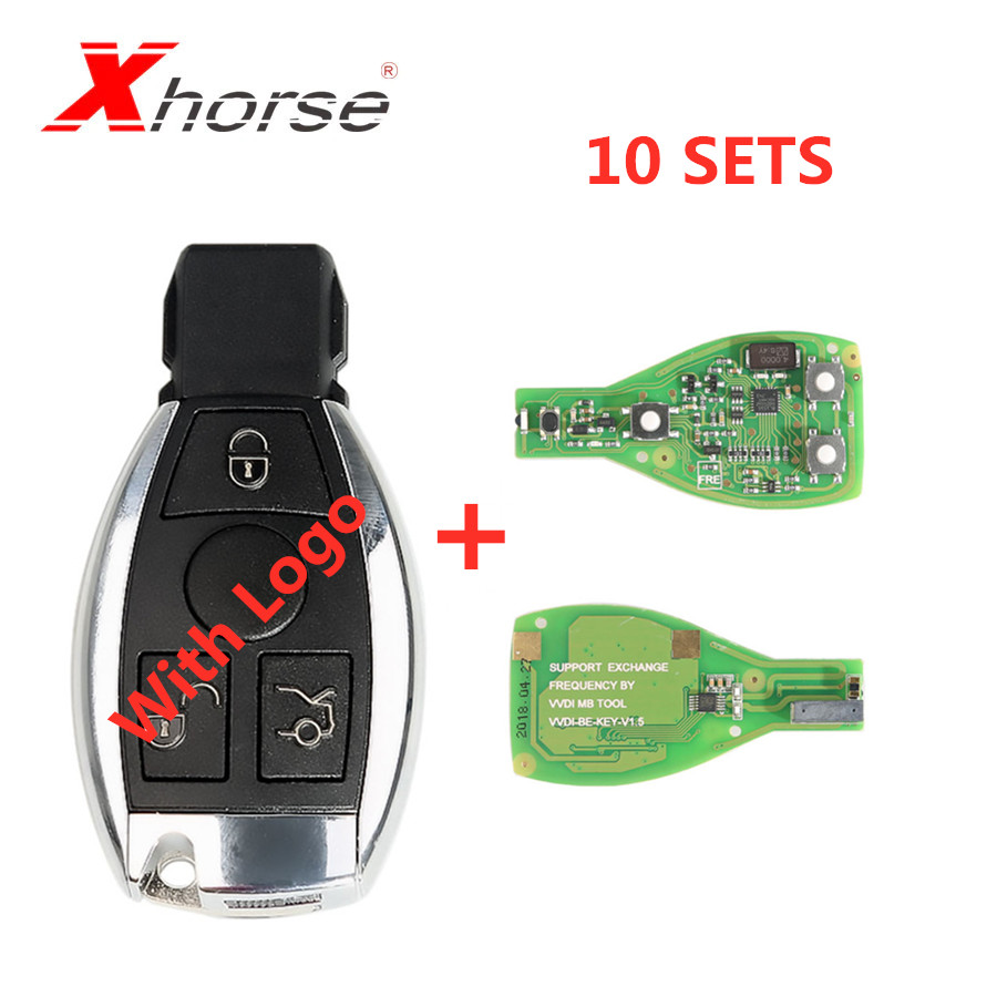 XHORSE VVDI BE Key Pro For Benz XNBZ01EN Remote Key Chip Improved Version V1.5 Can Choose Smart Key Shell 3 Button