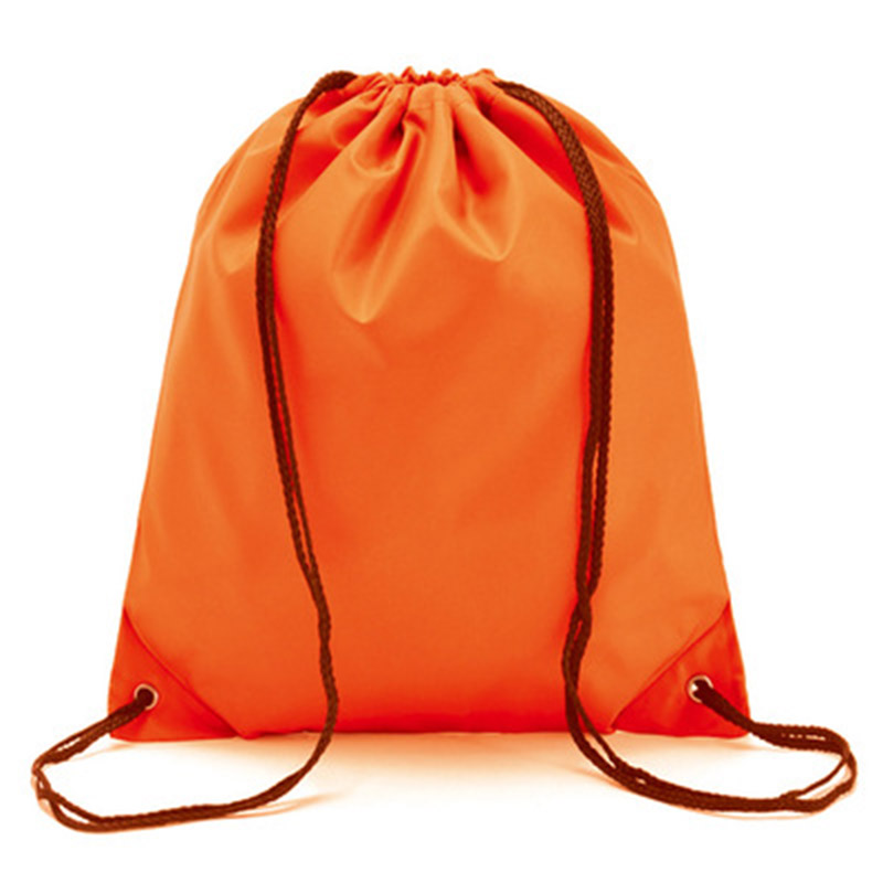 Hot Selling Drawstring Backpack Storage Bag Solid Color Portable For School Sport Travel Shoes Cycling -B5