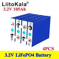 4 pezzi LiitoKala grado A nuovo 3.2V 100Ah 105Ah lifepo4 batteria batteria 12V 24V per batteria EV RV fai da te solare ue usa senza tasse