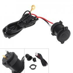 Czarny 12V wodoodporna uniwersalna ładowarka motocyklowa zapalniczki GPS złącze ładowania z linią Lnsurance do motocykla samochodowego