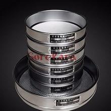 Numune Test elek paslanmaz çelik standart Test elek laboratuvar elek Diam 30cm 20 mesh - 200 Mesh