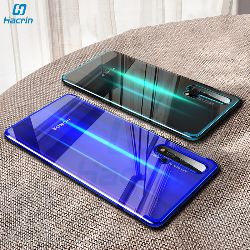 Hacrin Case For Huawei Honor 20 Pro Case Soft TPU Transparent Clear Laser Plating Cover For Honor 20 Case Full Protective Bumper