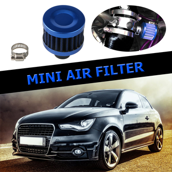 1 Inch Universal Car Air Filter 12mm for Auto Car Cold Air Intake High Flow Crankcase Vent Cover Mini Breather Filters image