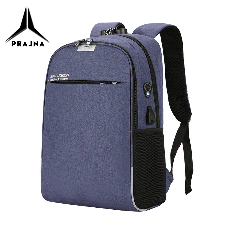 New Anti-thief USB Recharging Men Backpack Travel Unisex NO <font><b>Key</b></font> <font><b>TSA</b></font> Lock Design Man Casual Fashion Bag Women Backpack Fit 15.6 image