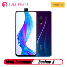 OPPO Realme X 4G LTE الهاتف المحمول 8GB 128GB Snapdragon710 6.53 AMOLED 3765mAh 48MP بصمة VOOC3.0 نوع C هاتف ذكي مفتوح