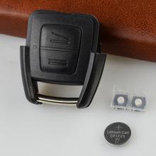 OkeyTech 2 przyciski obudowa pilota z kluczykiem samochodowym dla opla Vauxhall Astra Zafira Omega Vectra wymiana pokrywy skrzynka Fob akcesoria tanie tanio Car Key Shell For Opel Astra Car Key Cover For Opel Astra Plastic China Car Key Case For Opel Astra Black 2 Buttons 30g pcs