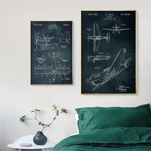 Aircraft Anatomy Science Vintage Posters Art Prints Helicopter Fighter Retro Canvas Painting Boys Game Room Wall Pictures Decor