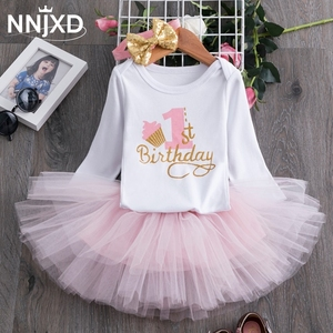 2020 Winter Long Sleeve Baby Girls Dress For Girl Christening Birthday 0 1T Newborn Toddler Dress Kids Casual Wear Daily Clothes(China)