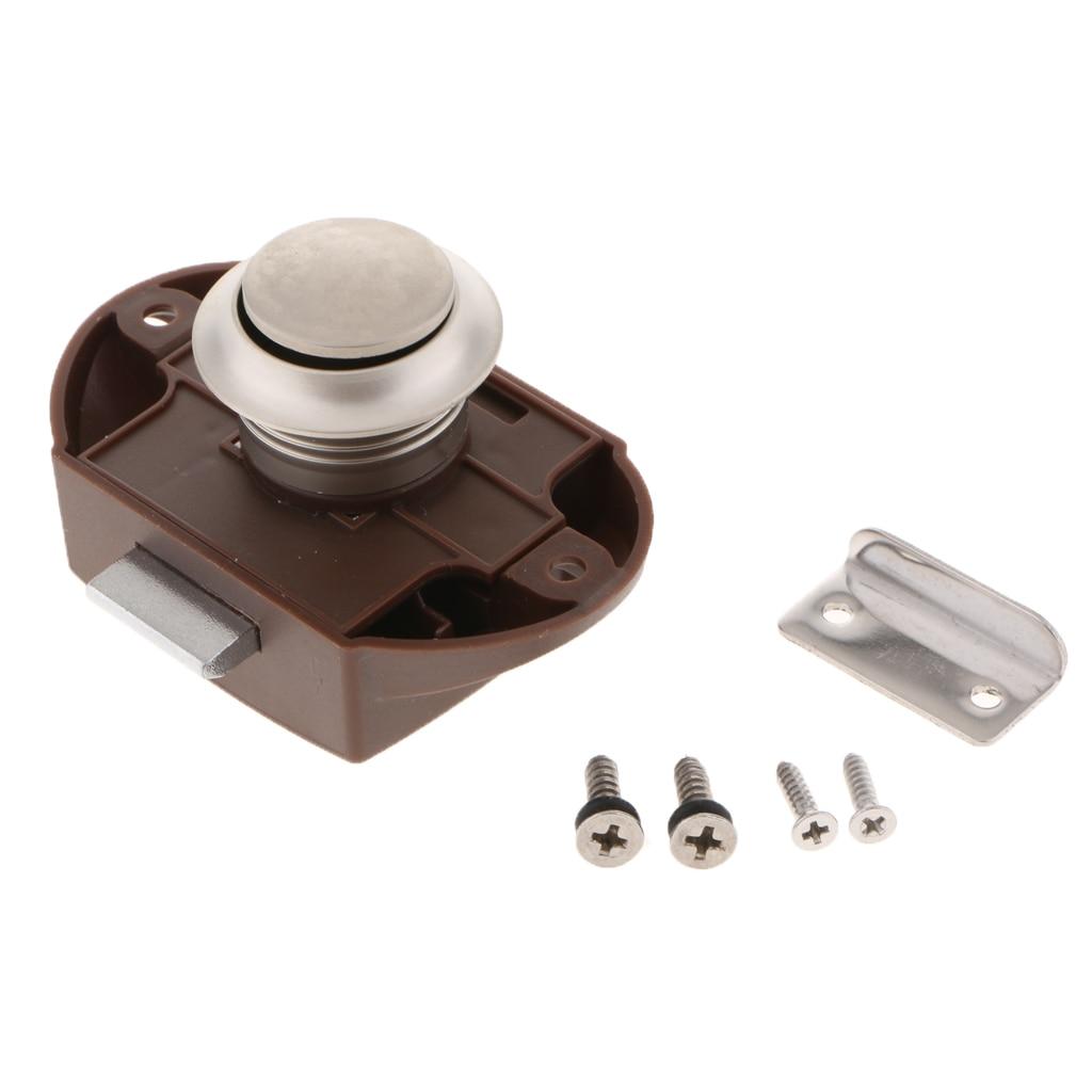 Perfeclan Push Button Latch Keyless Cabinet Lock For Rv Motor Caravan Fine Quality