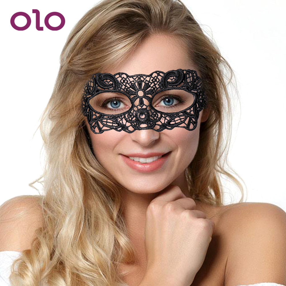 OLO Sexy Eye Mask Women Lace Eye Mask Erotic Toys Nightclub Dance Party Mask Sex Toys For Couple Mysterious Foreplay Adult Games