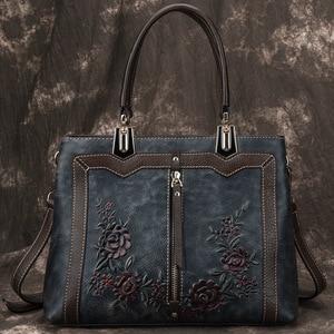 Image 3 - Johnature Retro Handmadeของแท้กระเป๋าถือหนังหรูผู้หญิงกระเป๋าออกแบบ 2020 ใหม่ขนาดใหญ่ความจุไหล่และกระเป๋าCrossbody