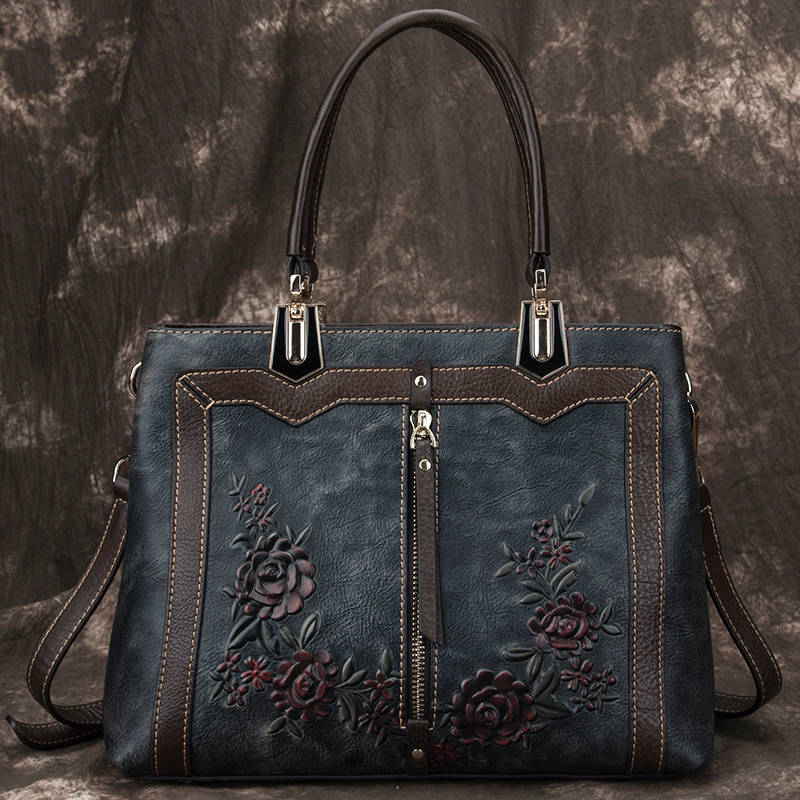 Image 3 - Johnature Retro Handmade Genuine Leather Luxury Handbags Women 
