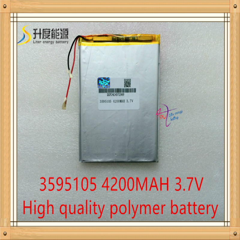 1PCS/Lot Rechargeable Lithium Polymer <font><b>battery</b></font> 3595105 <font><b>3.7v</b></font> <font><b>4200mah</b></font> Liter energy <font><b>battery</b></font> image