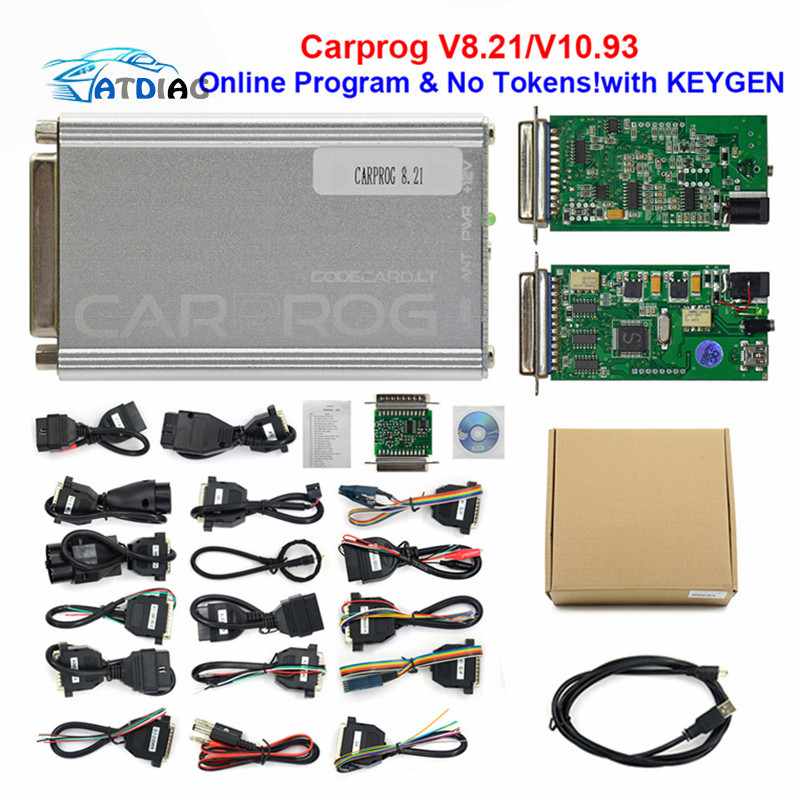 ECU Carprog V10.05 mit 21 Adapter Full Newest Version PROG Programmer Tool OBDII