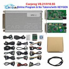 2020 en kaliteli oto tamir aracı CARPROG V10.05 V10.9 veya V8.21 çevrimiçi sürüm programcı 74hc125 çip araba prog 21 adaptörleri