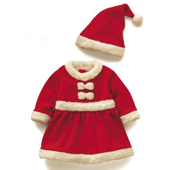 цена на Christmas Baby Santa Claus Costume Baby Cosplay Boys Clothes Long Sleeve Toddler Girls Red Dress Cute Infant Baby Winter Dress