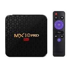 Mx10 Pro Smart Tv Box Android 9.0 Allwinner H6 Uhd 4K Media Player 6K Image Decoding 4Gb / 32Gb 2.4G Wifi 100M Lan Usb3.0 H.265
