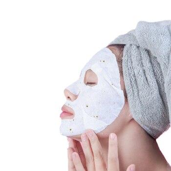 10pcs/box 24k Gold Beautifying Repairing Mask Hyaluronic Acid Sheet Face Masks Moisturizer Whitening Oil-Control cetaphil dermacontrol oil control moisturizer spf 30