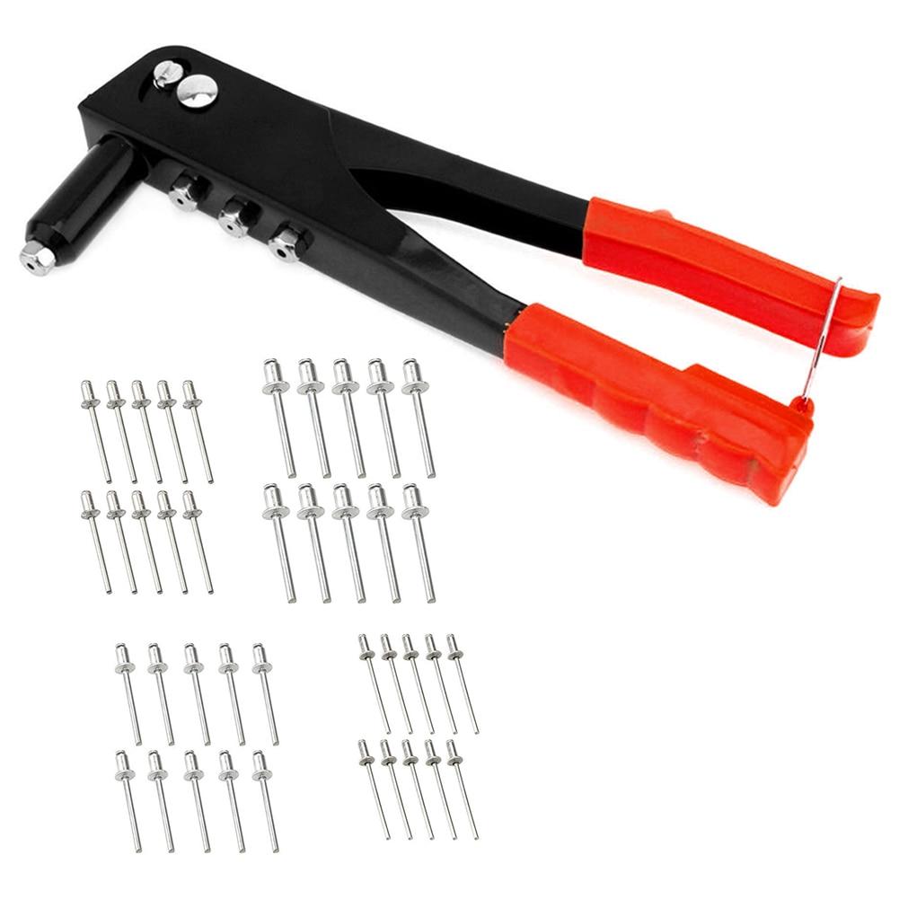 Avec Rivets réparation robuste professionnel en acier allié tirer capuchon outil main riveteuse ensemble accessoires manuels ménagers
