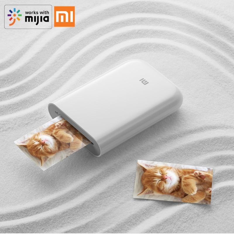 Xiaomi Mijia Portable Smart AR Photo Printer 300dpi Mini Pocket DIY Share 500mAh Picture Printer Work With Mijia APP