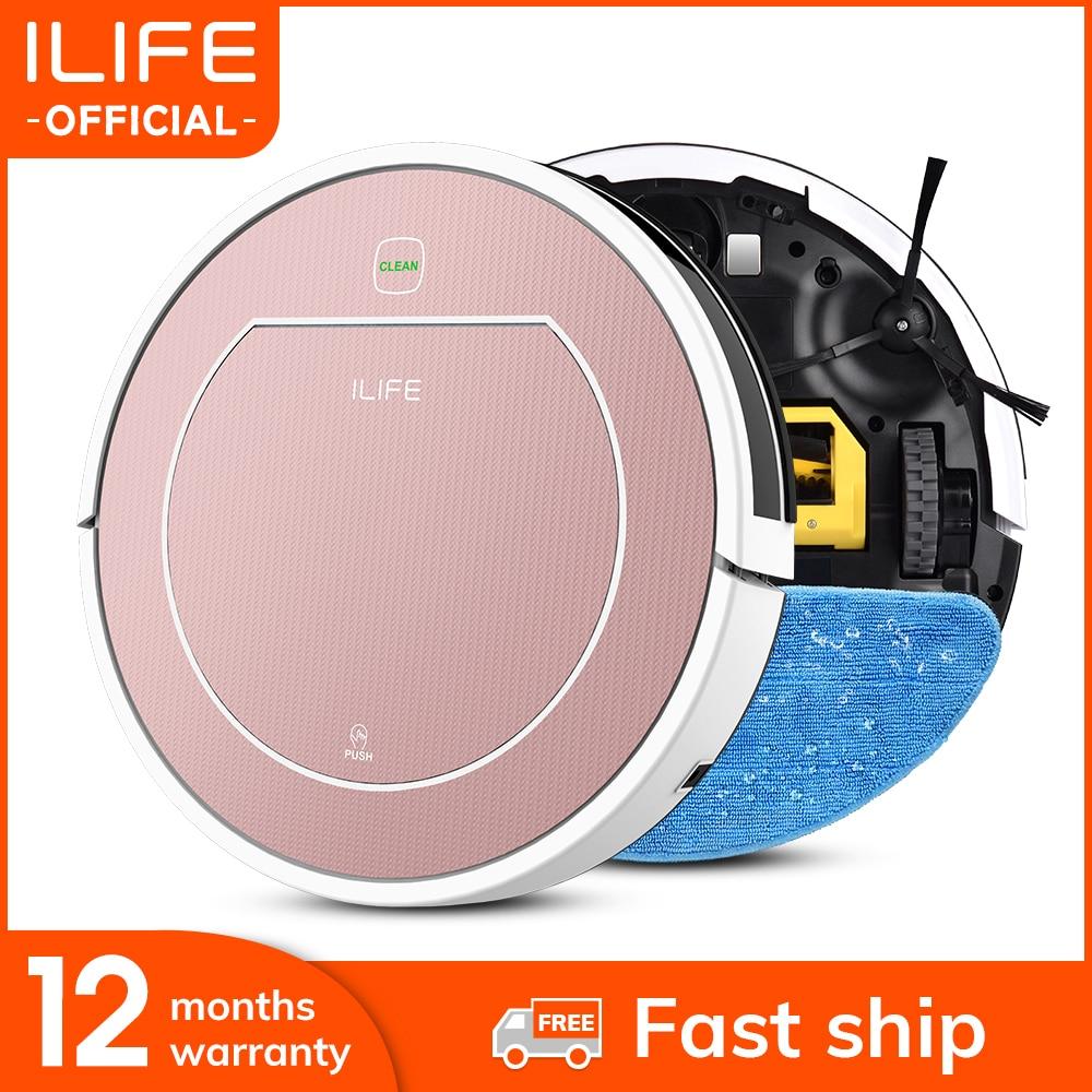 ILIFE V7s Plus  пылесос-робот с турбощёткой ,имеется сухую уборку  и влажную уборку   для твёрдых полов и ковров ,и 120 минут работы .