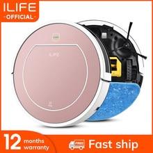 ILIFE V7s Plus  Robô Aspirador com Auto-Carga Mopa Molhada para o Assoalho De Madeira