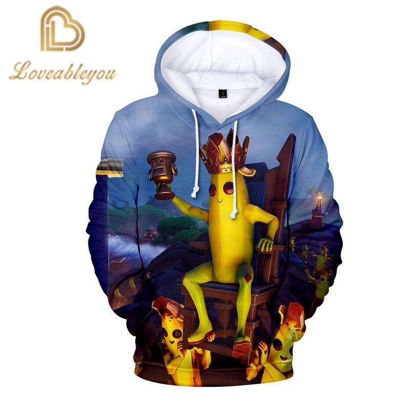 Funny Banana King 3d Print Newest Hooded Hoodies Streetwear Hip Hop Warm Hoody Sweatshirts Tops