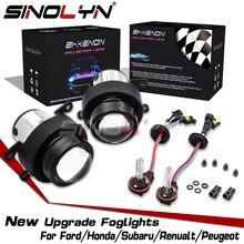 Sinolyn bi xenon luzes de nevoeiro para ford focus 2 mk2 fiesta/citroen c4/subaru forester/honda apto/suzuki swift h11 hid lâmpada retrofit
