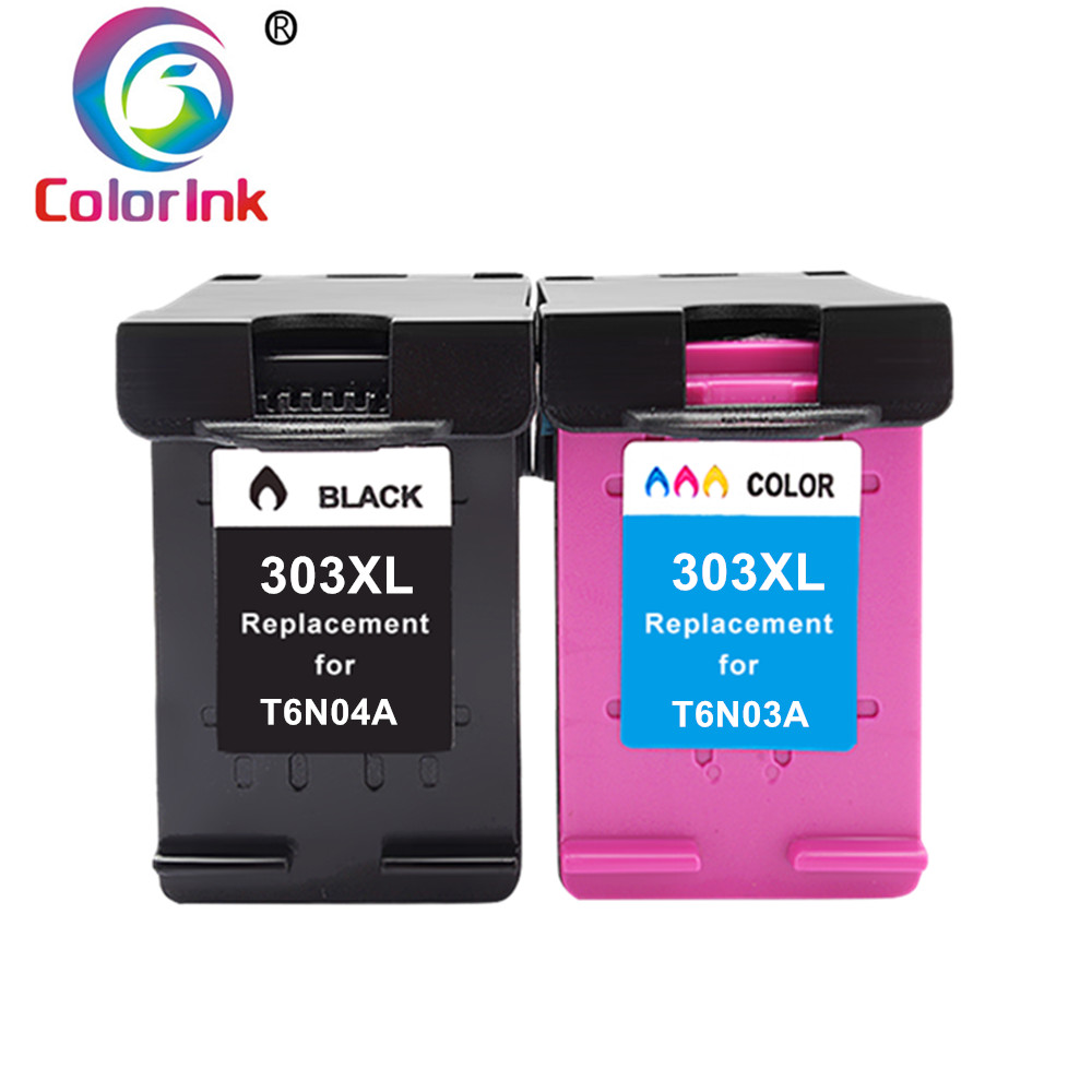 ColoInk For HP303 For Hp 303 Ink Cartridge Compatible For HP Envy 6220 6222 6230 6234 6252 6255 7120 7130 7132 7155 Printers