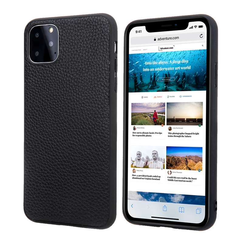 Genuine leather TPU soft case for iPhone 11 Pro Max 11Pro ProMax X XS XR phone cases new 2019 luxury ultra thin slim back cover