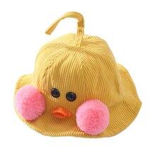 2019 Fashion Children'S Autumn Winter Hat Cartoon Kid Accessories New Cotton Duck Fisherman Baby Cute Ball Cap High Quality