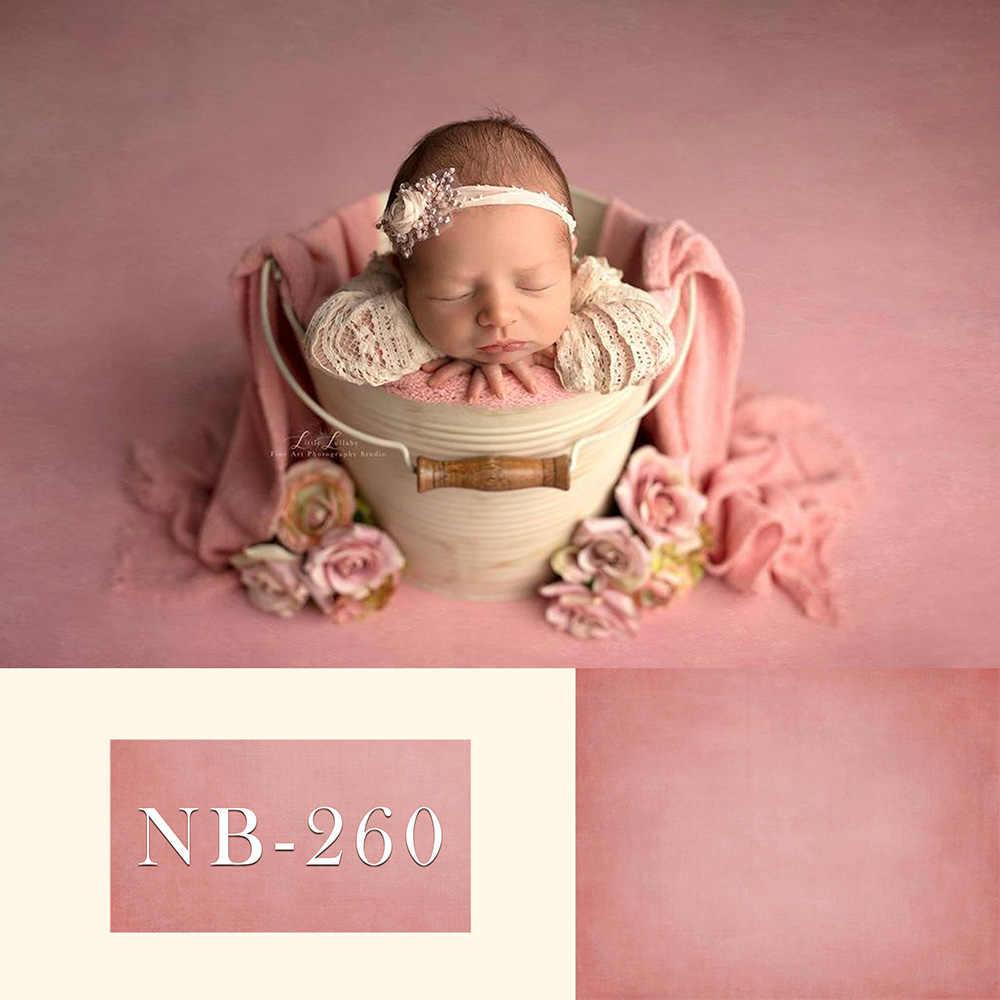 Mehofond Pasgeboren Effen Kleur Achtergrond Roze Douche Verjaardagsfeestje Fotografie Achtergrond Decoratie Banner Photo Studio Prop