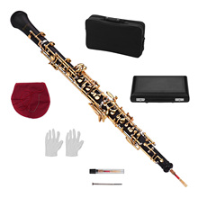 Muslady Профессиональный oboe C Ключ полуавтоматический стиль никелированные ключи деревянный духовой инструмент с гобо Рид перчатки кожаный чехол