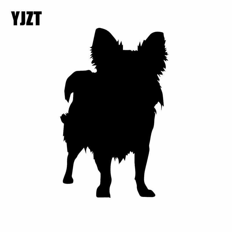 YJZT 10.1X15.9CM Car Sticker Funny Animal Chihuahua Dog Pet Animals Vinyl Decal Black/Silver C24-1433