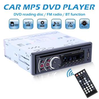 1 Din Car Radio Bluetooth Car Stereo Audio MP3 Player CD VCD DVD Player AUX USB FM Radio 1din Autoradio image