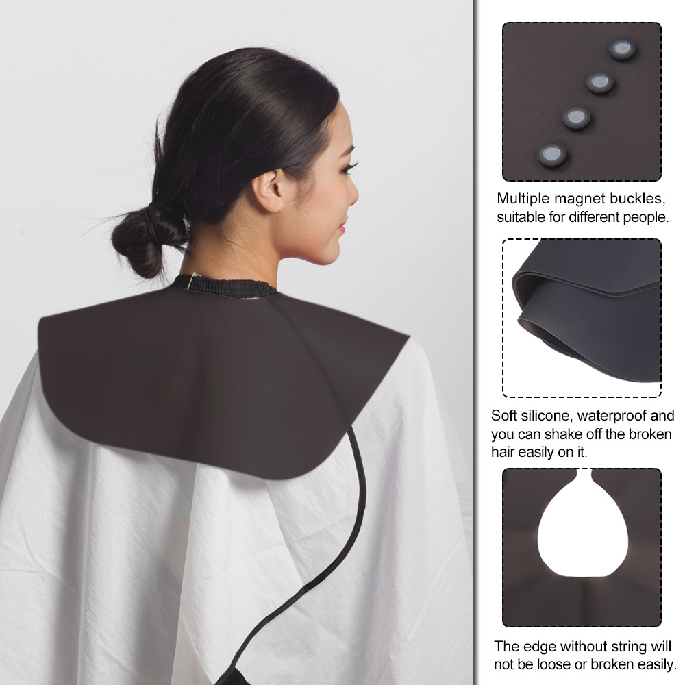 Salon Barber Silicone Neck Guard Hair Salon Stylist Cutting Collar Black Rubber Neck Wrap Hairdressing Haircut Accessories