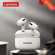 Original lenovo lp1s tws fone de ouvido sem fio bluetooth 5.0 dupla estéreo redução ruído baixo lp1 nova versão atualizada toque fones