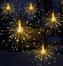 Светодиодная гирлянда 120 светодиодный люстра фейерверк фонарик