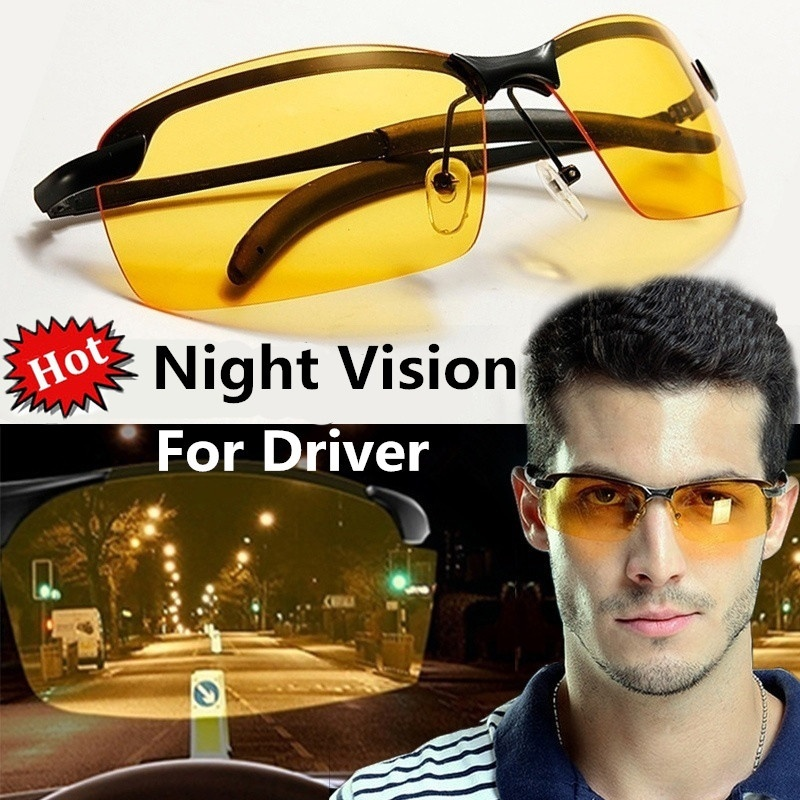 Men Photochromic Sport Polarized Sunglasses Night Vision Outdoor Driving Glasses