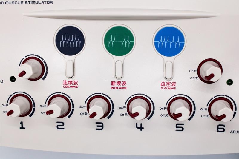 Image 5 - Ems электроакупунктура мышечный Стимулятор с 6 Каналы Выход массажное устройство для расслабления мышц и физиотерапииРасслабляющие процедуры    АлиЭкспресс
